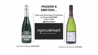 Crémant passion & emotion pop-up tasting 6. 9. 2019